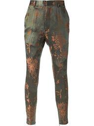 жаккардовые брюки с узором  Haider Ackermann
