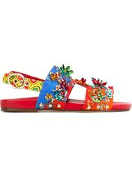 embellished brocade sandals  Dolce & Gabbana