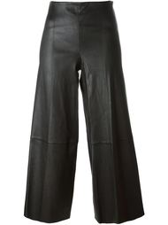 stitching detail wide leg cropped trousers By Malene Birger
