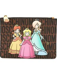 клатч с принтом принцесс Moschino
