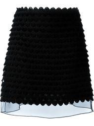юбка А-силуэта с тюлевой вставкой Giamba