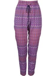 drawstring ethnic print tapered trousers Astraet