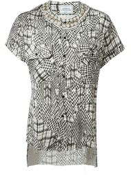 'Honour Kefiah' mixed print button down shirt Forte Couture
