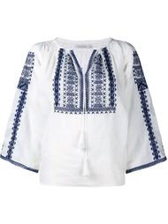 Slava Embroidered Long Sleeve Top Mes Demoiselles