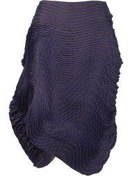 pleated asymmetric skirt Issey Miyake