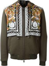 'Water Barocco' layered hoodie Versace
