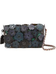 'Print Dinky' floral applique flap closure shoulder bag Coach 1941