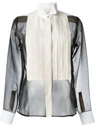 рубашка с воротником-стойкой со скошенными концами Lanvin