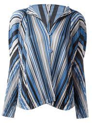 блузка в полоску Pleats Please By Issey Miyake