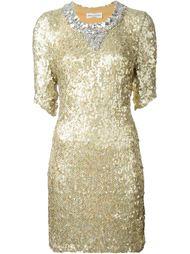 платье с пайетками  Sonia Rykiel