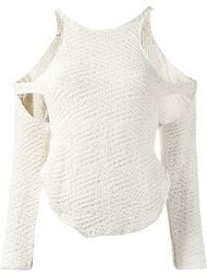 свитер ажурной вязки Eckhaus Latta