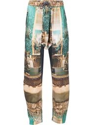 drawstring Victorian print tapered trousers Vivienne Westwood Man