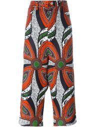 укороченные брюки с Африканским принтом Junya Watanabe Comme Des Garçons