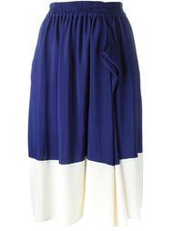 юбка в стиле колор-блок  Jil Sander Navy