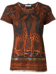 giraffe print T-shirt Valentino