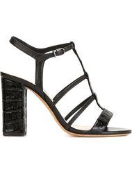 strappy crocodile effect sandals Alexandre Birman