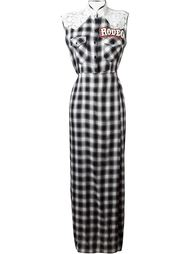 lace panel checked shirt dress  Forte Couture
