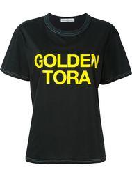 футболка с принтом логотипа  Golden Goose Deluxe Brand