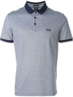 футболка-поло с контрастной окантовкой на рукавах и воротнике  Boss Hugo Boss