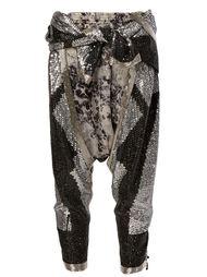 брюки с заниженной шаговой линией и пайетками Faith Connexion
