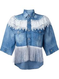 fringed denim shirt  Forte Couture