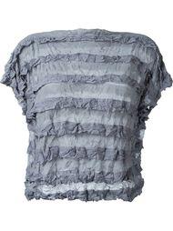 полупрозрачная футболка в полоску Issey Miyake Cauliflower