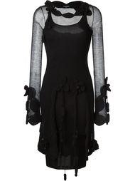 ажурное сетчатое платье Chanel Vintage