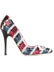 sequin embellished stilettos Giamba