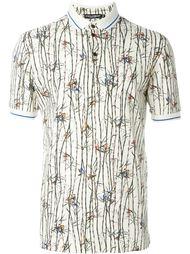 футболка-поло с разноцветным принтом птиц Dolce & Gabbana