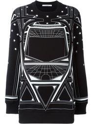 толстовка с геометрическим узором  Givenchy