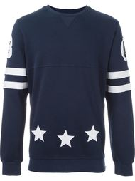 contrast patched varsity sweatshirt Hydrogen