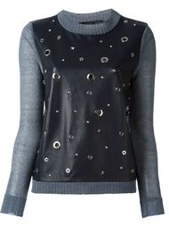 knit sleeve studded top Drome