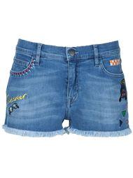 embroidered denim shorts Mira Mikati