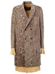 двубортное пальто с вышивкой Uma Wang