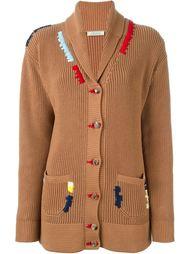 embroidered shawl neck cardigan Nina Ricci