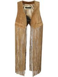 fringed waistcoat Plein Sud