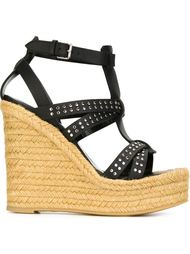 studded wedge sandals Saint Laurent