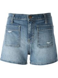 patch pocket denim shorts Current/Elliott