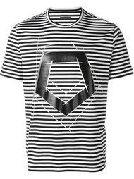 полосатая футболка с геометрическим принтом Z Zegna