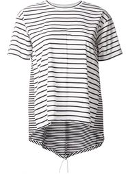 multi patterned striped crew neck T-shirt Astraet