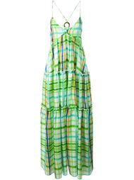 checked maxi dress Daizy Shely