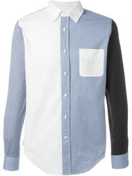 рубашка дизайна колор-блок Wooster + Lardini