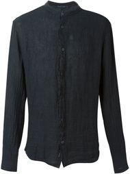 round neck button down shirt Transit