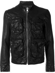 leather zip jacket Neil Barrett