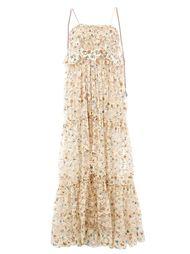 кружевное платье с цветочным принтом  Chloé