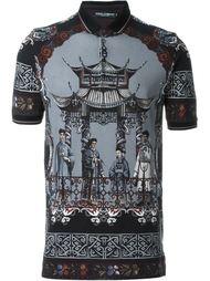 поло 'Chinese Temple' Dolce & Gabbana