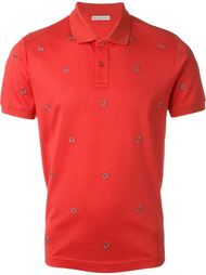 logo embellished polo shirt Moncler