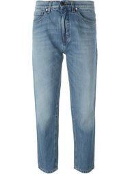 straight leg cut cropped jeans Victoria Victoria Beckham
