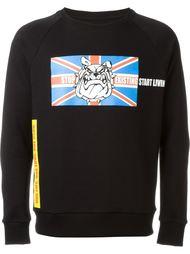 bulldog print sweatshirt Amen