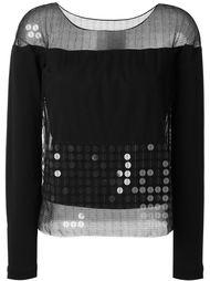 декорированная сетчатая блузка Maison Margiela